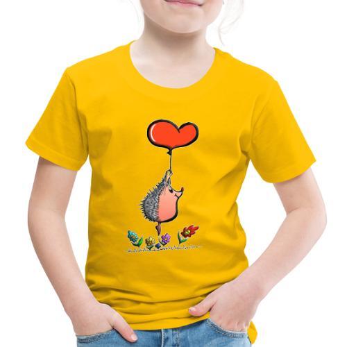 Hérisson avec une ballon pour les amoureux - T-shirt Premium Enfant