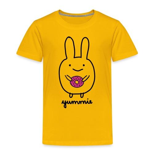 Dirk yummie hase kaninchen bunny häschen donut - Kinder Premium T-Shirt