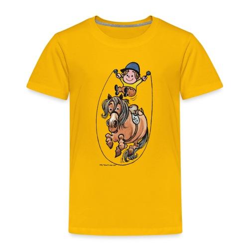Thelwell Reiter Und Pony Machen Seilspringen - Kinder Premium T-Shirt