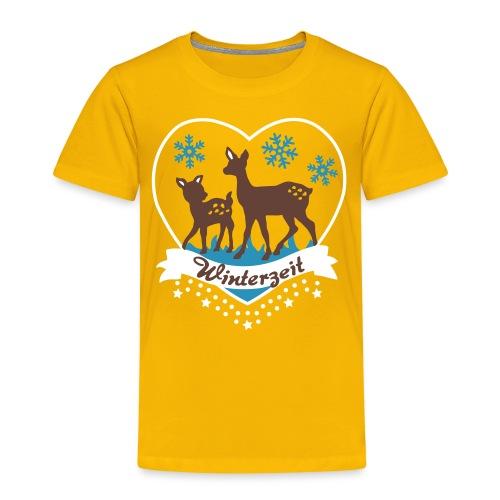 Winterzeit, Rehe, Weihnachten - Kinder Premium T-Shirt
