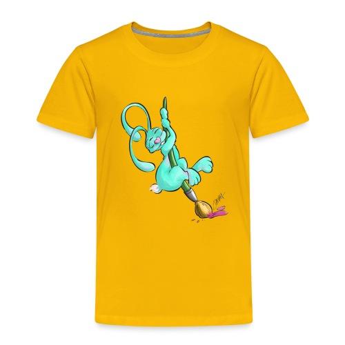 Zeichnerbunny mit Pinsel - Kinder Premium T-Shirt