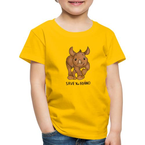Save the Rhino - Kids' Premium T-Shirt
