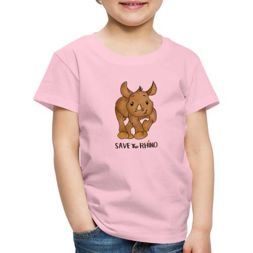 Save the Rhino - Kids' Premium T-Shirt