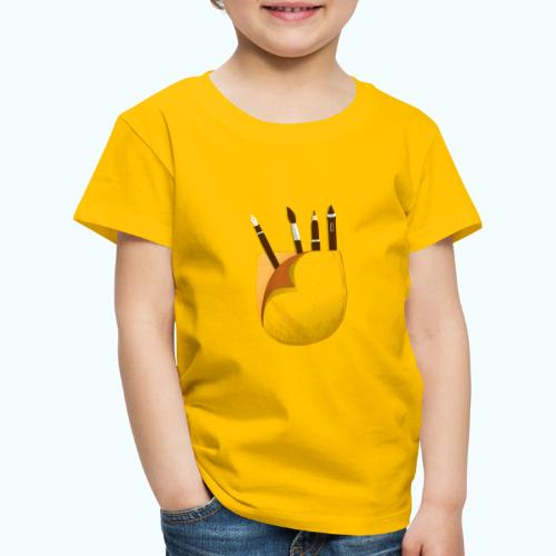 Printed breast pocket large in the middle - Kids' Premium T-Shirt