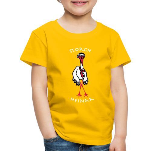 storchheinarcomic weisseSchrift - Kinder Premium T-Shirt