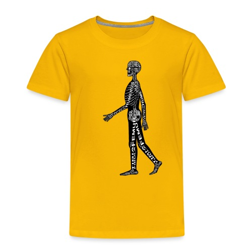 Menschen-Skelett - Lasten premium t-paita