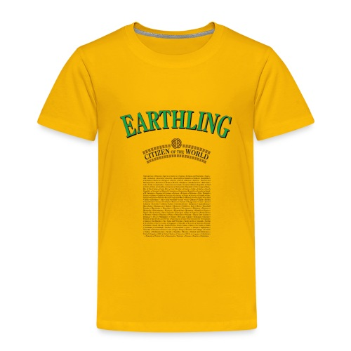 Earthling - Citizen of the World - Premium-T-shirt barn