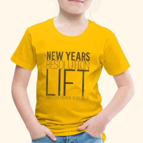 LIFT MORE CHICKEN - mehr fritiertes Hühnchen - Kinder Premium T-Shirt