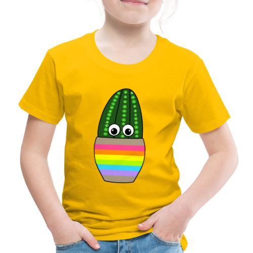 Tall Fuzzy Navel Cactus In Cute Jar - Kinder Premium T-Shirt
