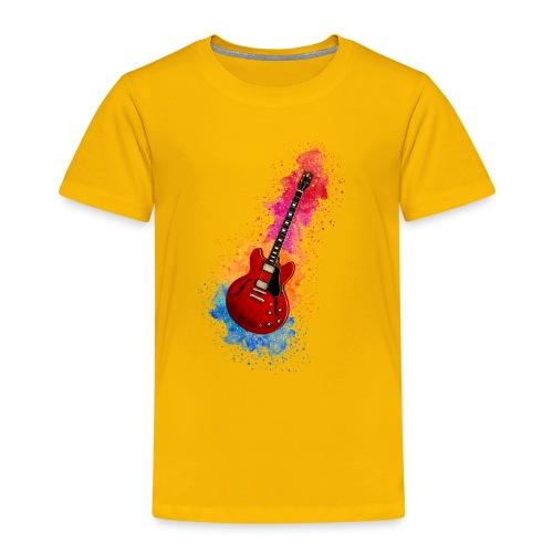 Cool Watercolour Splash Rock Guitar - Kids' Premium T-Shirt
