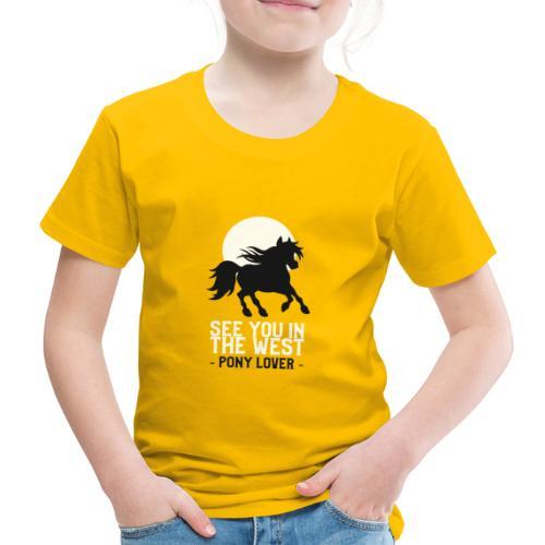 Silhouet pony design voor ponyliefhebbers - Kinderen Premium T-shirt