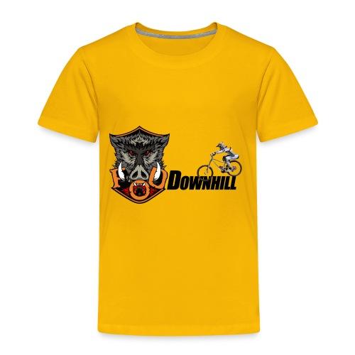 FoD Boar downhill png - Kids' Premium T-Shirt