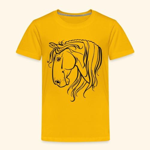 Cheval espagnol (noir) - T-shirt Premium Enfant