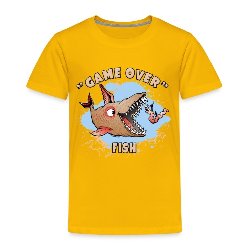 GAME OVER FISH - Cool Textiles, Gifts, Products - Lasten premium t-paita