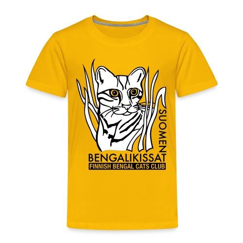 Bengalilogo vaalealle - Lasten premium t-paita