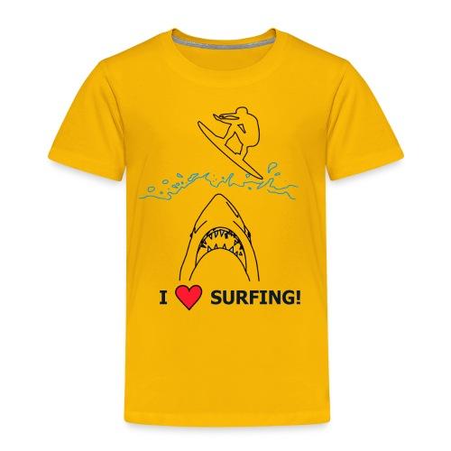 I love Surfing! - Kinder Premium T-Shirt
