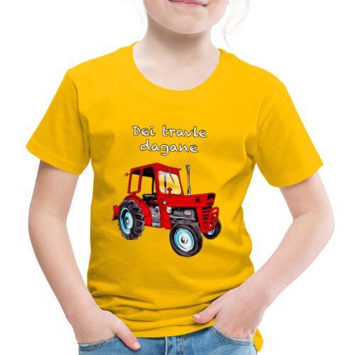 Traktor - Premium T-skjorte for barn