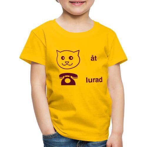 Katt åt telefon - Premium-T-shirt barn