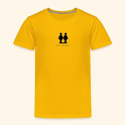 Frau liebt Frau Variante Schwarz - Kinder Premium T-Shirt