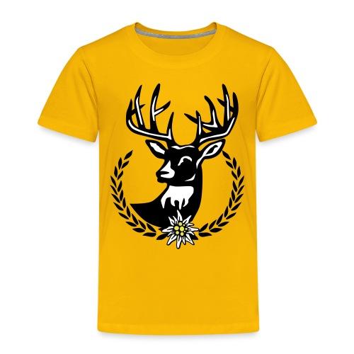 Hirsch Lorbeerkranz Wiesn Edelweiss - Kinder Premium T-Shirt