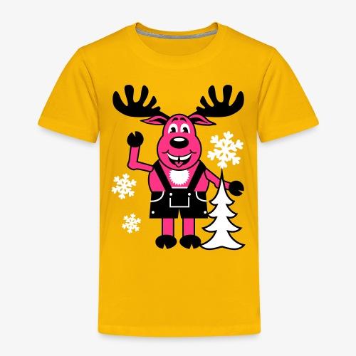 Hirsch Rudolph aus Bayern Lederhose Tannenbaum - Kinder Premium T-Shirt