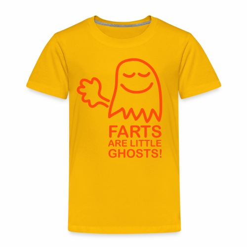 Farts are little ghosts (with text) - Kids' Premium T-Shirt