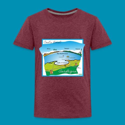 Costa Ovest png - Maglietta Premium per bambini