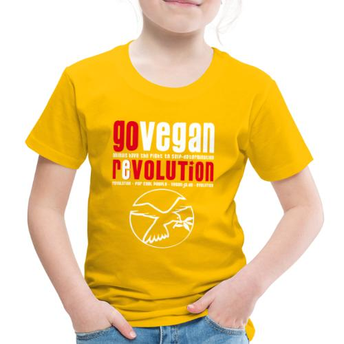 GO VEGAN REVOLUTION - Kinder Premium T-Shirt