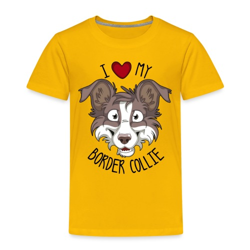I love my Border Collie - Kids' Premium T-Shirt