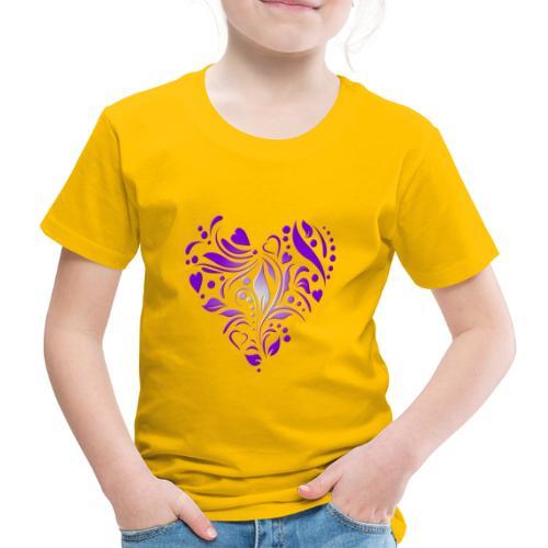 coeur mauve - T-shirt Premium Enfant