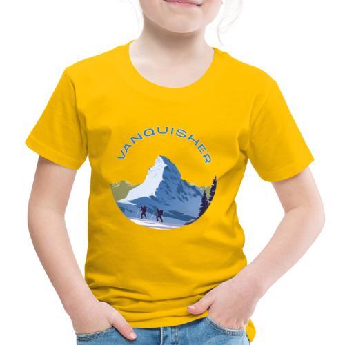 Vanquisher Matterhorn Schweiz Alpinist - Kinder Premium T-Shirt