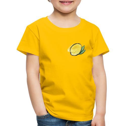 Lemon Heart Dark - Lasten premium t-paita