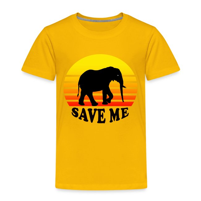 Elefant SAVE ME Schattenriss Sonne