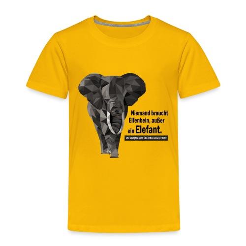 Niemand braucht Elfenbein, außer ein Elefant! - Kinder Premium T-Shirt