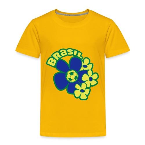 Voetbal Bloem Brazilie - Kinderen Premium T-shirt