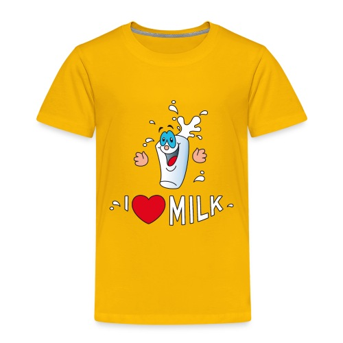 I love milk built this body Milch Kuh Stall Weide - Kids' Premium T-Shirt