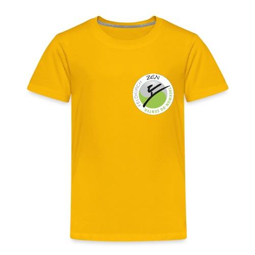 logo rund weiss mit rand - Kinder Premium T-Shirt