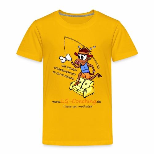 Schweine-Hund-Final_black - Kinder Premium T-Shirt