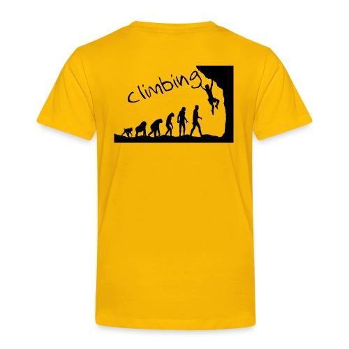 Kletter-Evolution schwarz - Kinder Premium T-Shirt