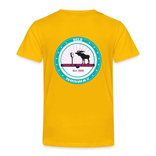 WHITE BABY ROCKER FRONT LOGO VEST - Premium T-skjorte for barn