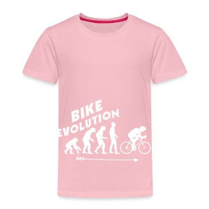 Bike Evolution (WHITE) - Kinder Premium T-Shirt