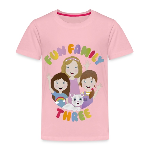 Fun Family Three Logo - Kids' Premium T-Shirt
