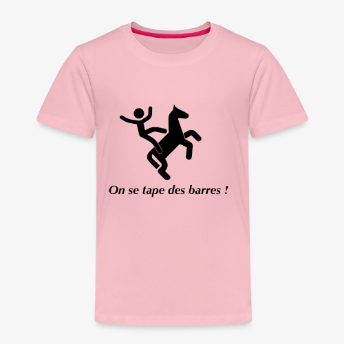 On se tape des barres! Noir - T-shirt Premium Enfant