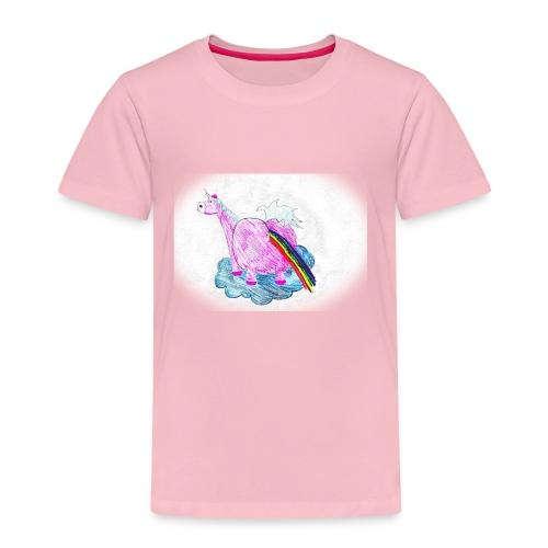 Regenbogen pupsendes Einhorn - Kinder Premium T-Shirt