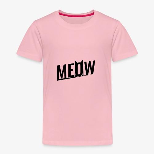 Meow black - Koszulka dziecięca Premium