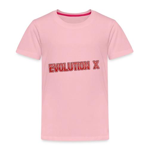 Evolution X Logo Rot - Kinder Premium T-Shirt
