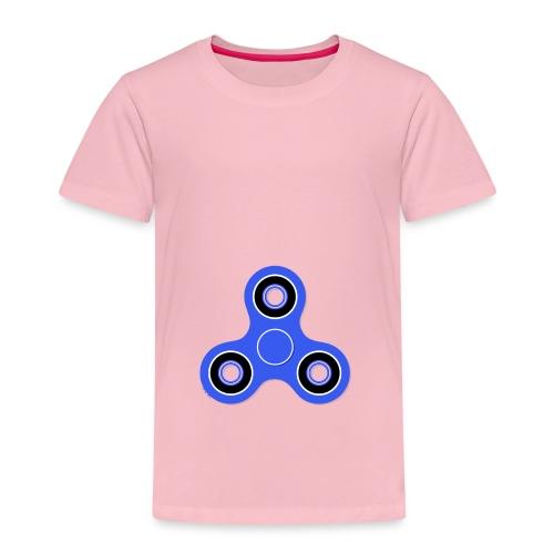 Fidget Spinner Blau - Kinder Premium T-Shirt