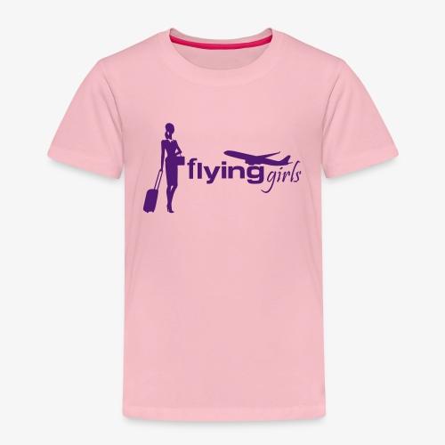 flying girls stewardess - Kinder Premium T-Shirt