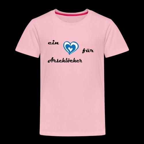 Herz für Arschlöcher - Kinder Premium T-Shirt