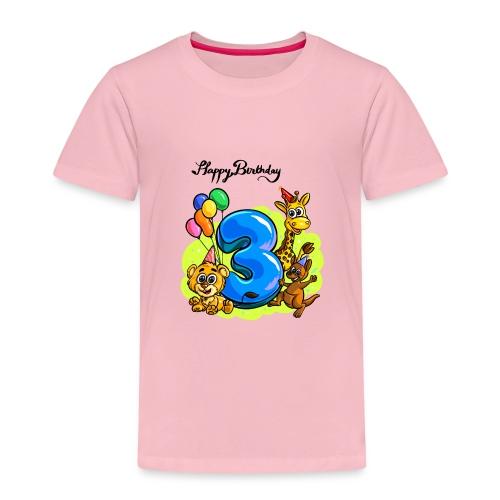 Happy Birthday Drei Jahre alt - Kinder Premium T-Shirt